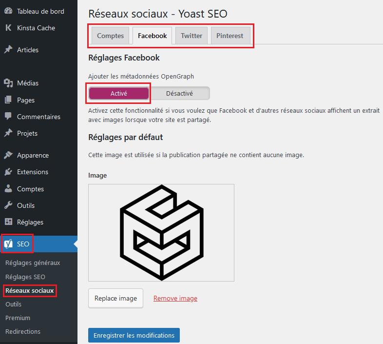 Ajouter les balises opengraph avec Yoast sur Wordpress