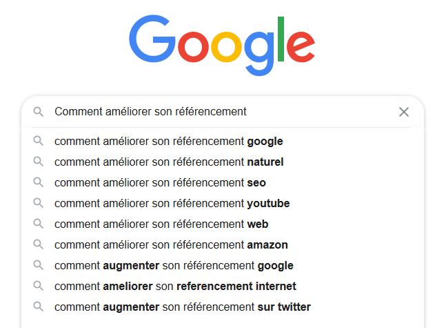 Exemple d'auto complétion avec Google